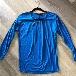 NWT Nic+Zoe Longsleeve Blue top, Size XS